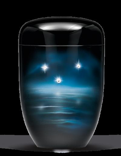 25-3633 Schwarz Funkelnde Sterne (Swarowski Elements)